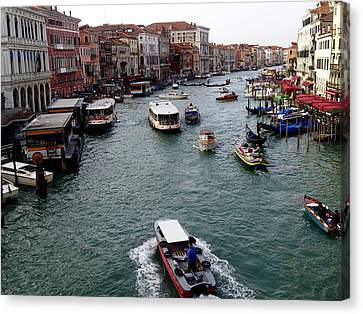 Grand Canal's Morning Rush Canvas Print by Amelia Racca
