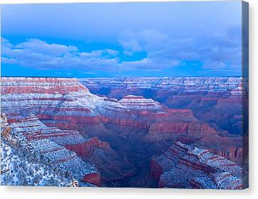 Canvas Print featuring the photograph Grand Canyon At Dawn by Jonathan Nguyen