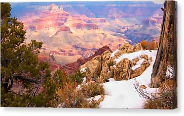 Canvas Print featuring the photograph Grand Canyon by Bob Pardue