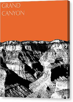 Grand Canyon - Coral Canvas Print by DB Artist