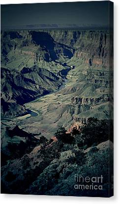 Landmarks Canvas Print - Grand Canyon Eastern Sunset View Conte Crayon Lomo by Shawn O'Brien