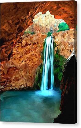 Nadine Canvas Print - Grand Canyon Havasu Falls by Bob and Nadine Johnston