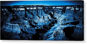 Canvas Print featuring the digital art Grand Canyon In Blue by Bartz Johnson