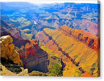 Grand Canyon In Vivid Color Canvas Print by Jim Hogg