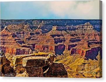 Grand Canyon Mather Viewpoint Canvas Print by Bob and Nadine Johnston