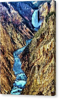 Canvas Print featuring the photograph Grand Canyon Of The Yellowstone by Benjamin Yeager