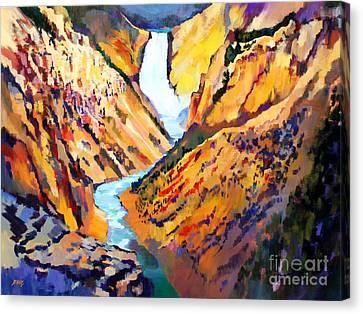 Grand Canyon Of The Yellowstone Canvas Print by Bernard Marks