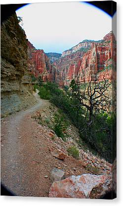 Canvas Print featuring the photograph Grand Canyon Or Bust by Jon Emery