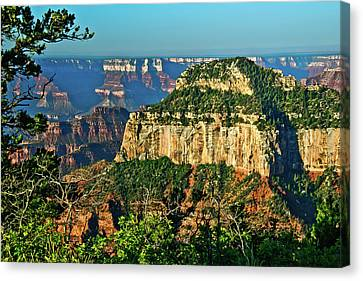 Canvas Print featuring the photograph Grand Canyon Peak Angel Point by Bob and Nadine Johnston