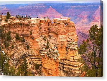 Canvas Print featuring the photograph Grand Canyon South Rim by Bob Pardue