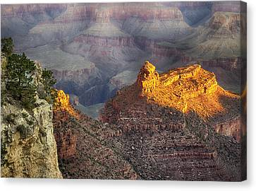 Canvas Print featuring the photograph Grand Canyon Sun Rise by Michael Hope
