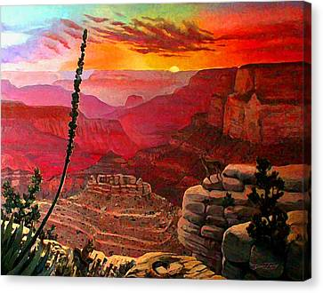 Grand Canyon Sunset Canvas Print by Dan Terry