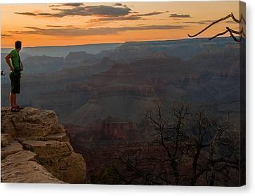 Grand Canyon Sunset Wim Canvas Print