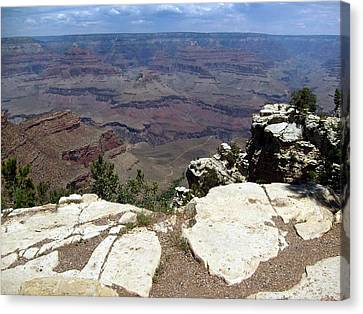 Canvas Print featuring the photograph Grand Canyon View 2 by Philomena Zito