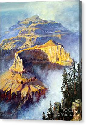 Canvas Print featuring the painting Grand Canyon View by Lee Piper