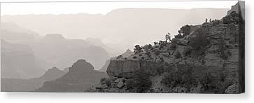 Grand Canyon Waking Up Bw Canvas Print by Patrick Jacquet
