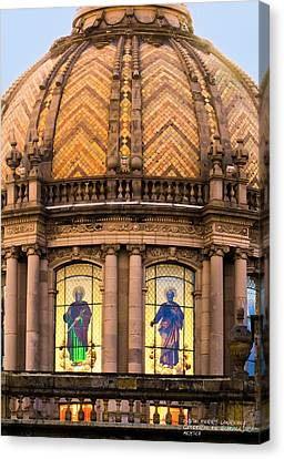 Grand Cathedral Of Guadalajara Canvas Print by David Perry Lawrence