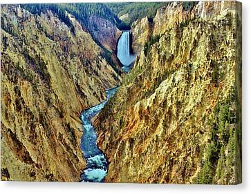 Canvas Print featuring the photograph Grand Cayon Of The Yellowstone River by Benjamin Yeager