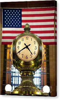 Grand Central Clock Canvas Print by Brian Jannsen