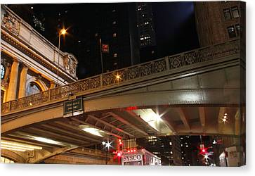 Grand Central Station At Pershing Square Canvas Print by Dan Sproul