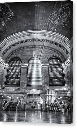 Grand Central Station Bw Canvas Print by Susan Candelario
