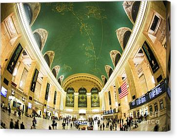 Grand Central Station New York City On Its Centennnial  Canvas Print
