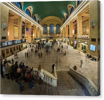 Canvas Print featuring the photograph Grand Central Station by Steve Zimic