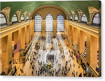Grand Central Terminal Birds Eye View I Canvas Print by Susan Candelario