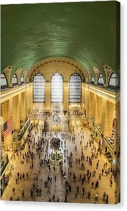 Grand Central Terminal Birds Eye View Canvas Print by Susan Candelario