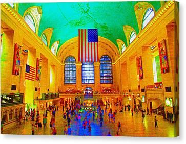 Grand Central Terminal Canvas Print by Dan Hilsenrath