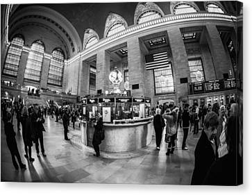 Canvas Print featuring the photograph Grand Central Terminal by James Howe