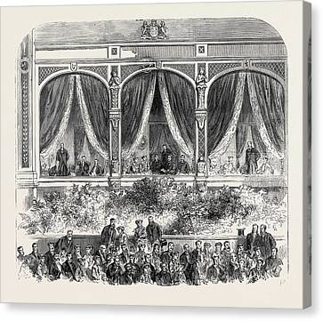 Grand Concert At The Crystal Palace The Royal Box 1867 Canvas Print by English School