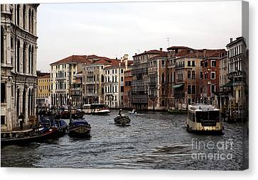 The Grand Place Canvas Print - Grand Day On The Canal by John Rizzuto
