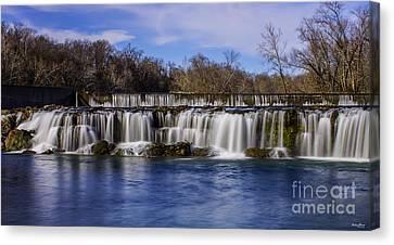 Grand Falls In Joplin Missouri Canvas Print by Jennifer White