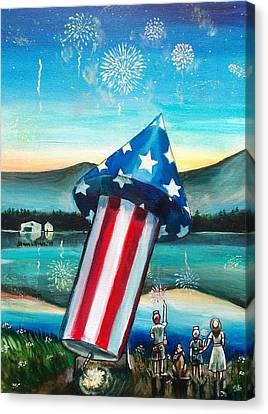 Grand Finale Canvas Print by Shana Rowe Jackson