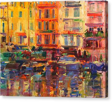 Grand Harbor, Cannes  Canvas Print by Peter Graham