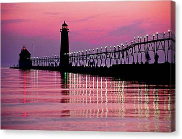 Grand Haven Light Canvas Print by Dennis Cox WorldViews