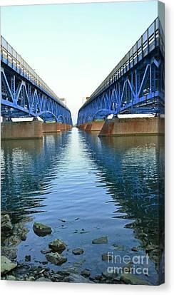 Grand Island Bridges Canvas Print by Kathleen Struckle