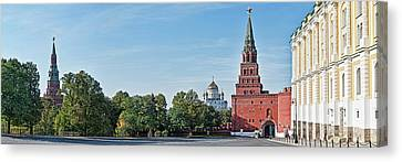 Grand Kremlin Palace With Cathedral Canvas Print