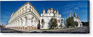 Grand Kremlin Palace With Cathedrals Canvas Print by Panoramic Images