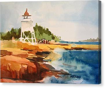 Port Town Canvas Print - Grand Marais by Kris Parins