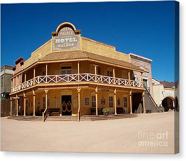 Terrain Canvas Print - Grand Palace Hotel Of Arizona by The Kepharts