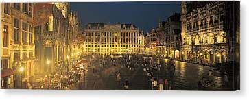 Grand Place Brussels Belgium Canvas Print by Panoramic Images