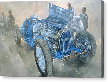Grand Prix Bugatti Canvas Print by Peter Miller