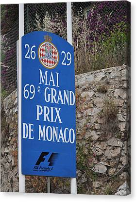Grand Prix Sign Canvas Print by Teresa Tilley