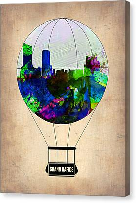 Grand Rapids Air Balloon Canvas Print by Naxart Studio