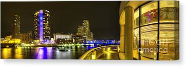 Grand Rapids From Ford Museum Canvas Print by Twenty Two North Photography