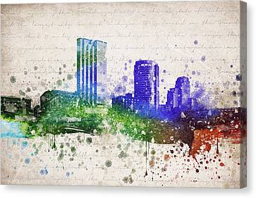 Grand Rapids In Color Canvas Print by Aged Pixel