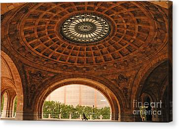 Grand Rotunda Pennsylvanian Pittsburgh Canvas Print by Amy Cicconi
