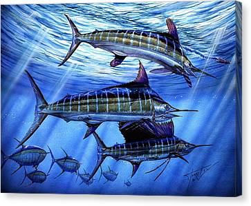 Slam Canvas Print - Grand Slam Lure And Tuna by Terry Fox